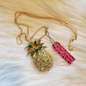 Betsey Johnson Pineapple Necklace